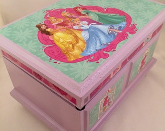 Disney Princesses Upcycled Musical Jewelry Box