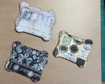 6 Spool Die Cuts Handmade Paper