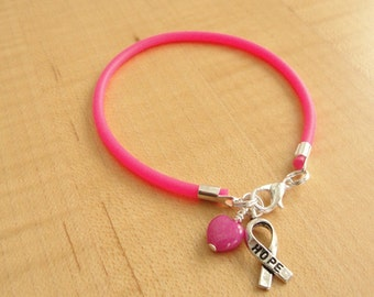 Hot Pink Awareness Bracelet (Rubber) - Inflammatory Breast Cancer -  Eosinophilic Esophagitis - Cleft Palate / Cleft Lip - Craniofacial