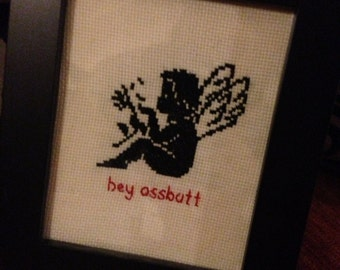 PRICE REDUCED Supernatural Castiel inspired Angel Cross-stitch