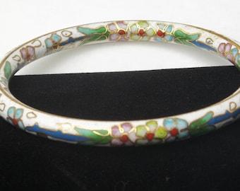 Flower Enamel Cloisonné 1950's Vintage Bangle Costume Jewelry Asian BRACELET Gift For Her on Etsy