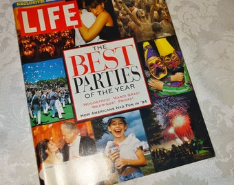 Vintage Life Magazine Best Parties of the Year November 1994 Billy Graham American Indian