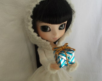 Handmade Christmas dress for Pullip,but available for Blythe, momoko,fashion royalty, barbie, bjd...