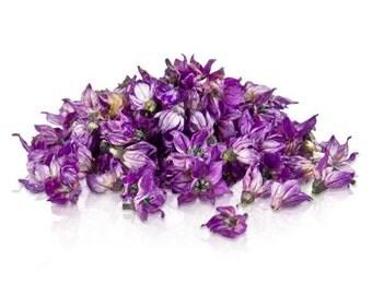100 Organic, PURPLE PEPPER BLOSSOMS, Purple Blue, Edible Flowers, Bulk, Karma Orchids, Dianthus, Wedding Cakes, Large Orders Only