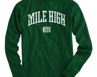 LS Mile High 303 Denver Tee - Long Sleeve T-shirt - Men and Kids - S M L XL 2x 3x 4x - Denver Colorado - 4 Colors