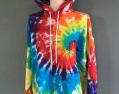 Tie-dye Hoodie, Hooded Sweatshirt, Hippie Clothes