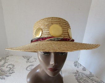 Summer Straw Hat High Fashion/Beach/Natural Straw Retro/ Sun Shade