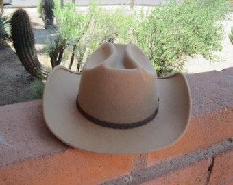 Cowboy Hat Light Brown Cattlemen Style by Miller Western Wear