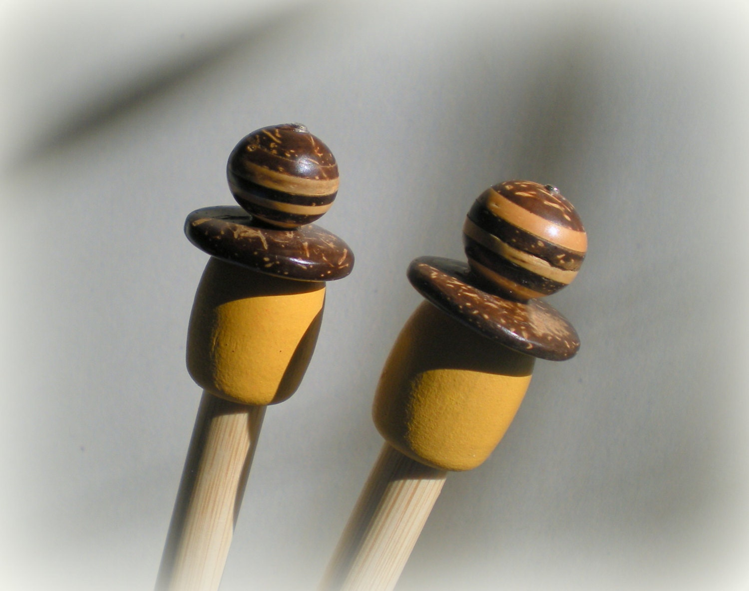 Wooden Knitting Needles : Wooden Knitting Needles Size US 15 by Whatruknitting on Etsy