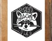 Living the Rascal Life - raccoon print