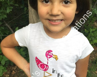 Flamingo in the duck pond shirt