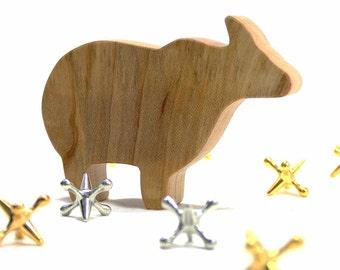 Noahs Ark Animal, Wood Toy Animal Yak, Wooden Toy for Kids, Asian Animal, Exotic Animal, Wood Toy, Waldorf Toy