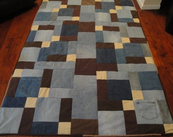 Browns in a Blue Jean Quilt