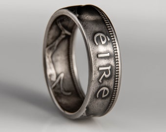 Irish 1 Shilling Coin Ring