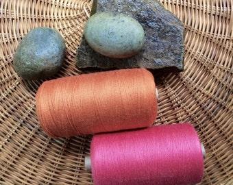 Egyptian cotton or cottonlin Swedish  8/2 weaving yarn 2 cone set  : saorisantacruz
