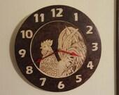 Wood Burned Clock, Custom Clock, PERSONALIZED CREATION EXPERIENCE, Pet Parents, Team Gear, Birthdays, Holidays, Gift