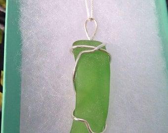 Seaglass Necklace, Chain