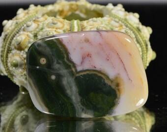 Ocean Jasper 23x16.8x4.8mm Natural Gemstone Cabochon Jewelry Supplies Ocean Jasper