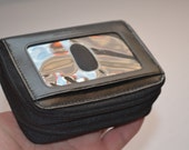 Vintage black leather wallet Buxton mens wallet organizer Excellent condition Fathers Day gift