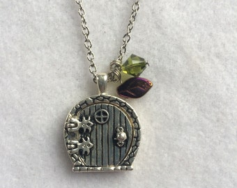 Hobbit Inspired Door Necklace - Geekery - Tolkien - Fairy - Fantasy - Woodland  - Cosplay - Spring - Summer - Graduation - Mother's Day