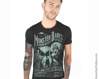 Monster Babes From Outer Space Men's Tee