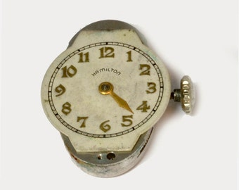 Hamilton 995A Watch Movement Complete for Parts or Restoration - Running Condition, Good Dial, 1940s 17 Jewel Watch Parts