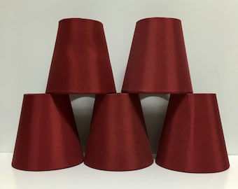 Chandelier Lamp Shades - Set of 5 in Red