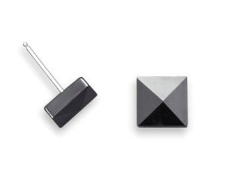 MEN'S Ceramic Pyramid Stud Earrings