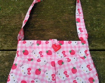 Kitty and Strawberry Pink and White Child Purse