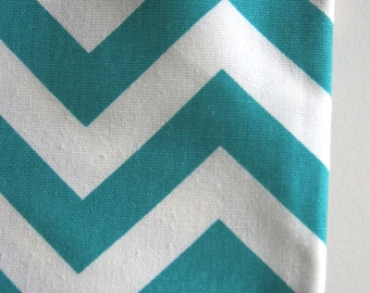 Turquoise / White Chevron Home Decor Weight Fabric from Premier Prints - ONE YARD