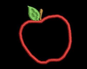 Apple machine embroidery applique