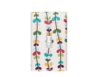 LAST ONE Heart Vine Light Switch Plate Cover / Baby Girl Nursery / Boom N Grow in Cream White by Riley Blake