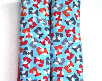 Fox Car Seat Strap Covers, Drool Pads, Stroller Strap Cover, Newborn Strap Cover