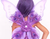 READY TO SHIP: Precious Peacock Wings - Purple - Costume Accessory - Fits toddler to adult - Cutie Patootie Designz