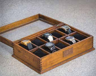 watch box watch case men s watch box watch box for men watch box men s watch box watch box for men wood watch box watch display gift custom watch box for 10 watches and secret compartment