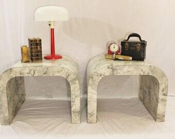 Mid Century Modern laminate pair of tables (2)