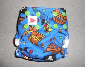 Sized Pirate Booty Pocket Diaper