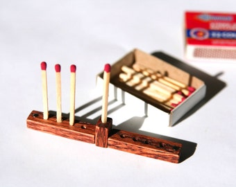 Magnetic Folding Matchstick Menorah (Version III)