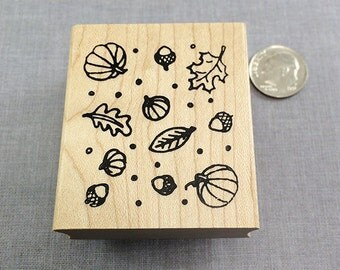 Fall Background Rubber Stamp
