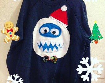 Made to order Abominable Snowman YETTI UGLY Christmas sweater