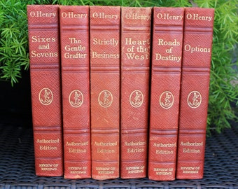 Six Antique O.Henry books