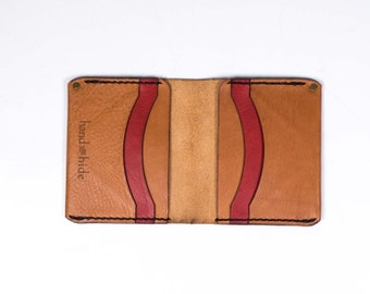 Medium Leather Wallet / Leather Billfold / Premium Italian Leather / Men's wallet / gift for him / Ready to Ship