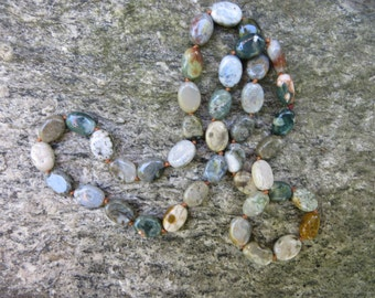 Hand Knotted Ocean Jasper Necklace