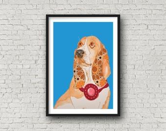 Basset Hound - Print