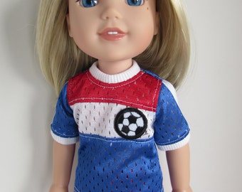 Soccer Uniform for 14.5 Inch Dolls Like WellieWishers™
