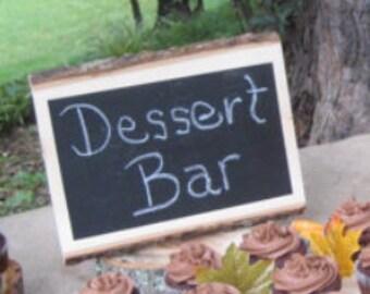 Rustic Chalkboard Sign, Log Chalkboard Sign, Tree Chalkboard, Wedding Sign, Rustic Wedding, Bark Sign