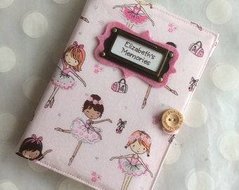 Pink Ballet Photo Album Personalized Brag Book holds 48 Pictures-Ballarina