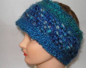 Blue and Turquoise Woven Headband