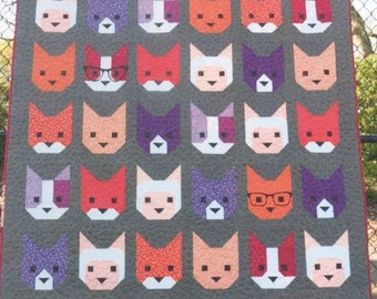 The Kittens Quilt Pattern by Elizabeth Hartman