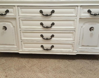Buffet Credenza shabby chic distressed vintage buffet